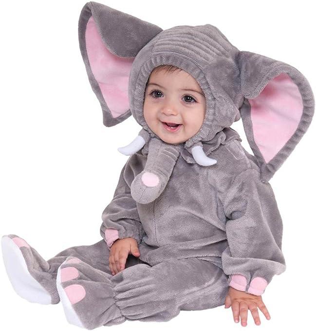 Gris Elefante Animales Bebé Disfraz 3 – 24 M manga larga de ...