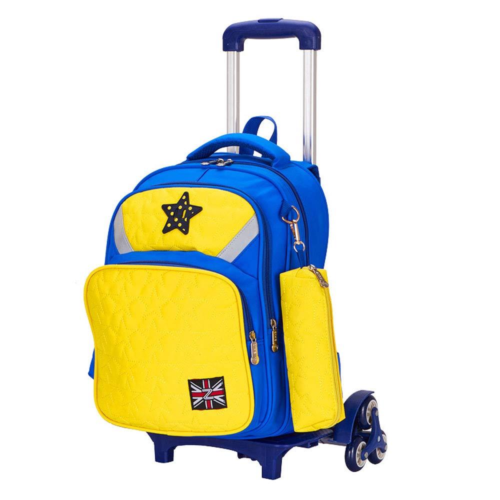 f7ad2d9a0d YCYHMYF Trolley Trolley Trolley da Viaggio per Bambini Facile da  trasportare Ultra Leggero 6 Ruote Staccabile (Giallo) 6282e5