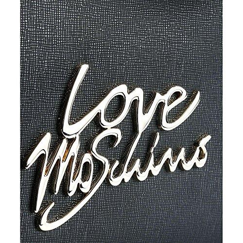 Love Moschino Logo hand bag black Pagar Con La Venta En Línea Paypal ilZRaSDJx