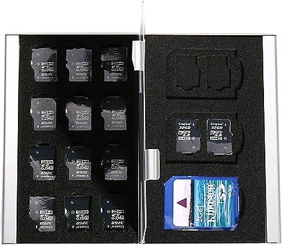 Myymee 3 Titulares de Tarjetas SD + 18 titulares de Tarjetas TF, Estuche de Tarjeta SD Bolsa de Almacenamiento de la Tarjeta de Memoria del teléfono móvil: Amazon.es: Electrónica