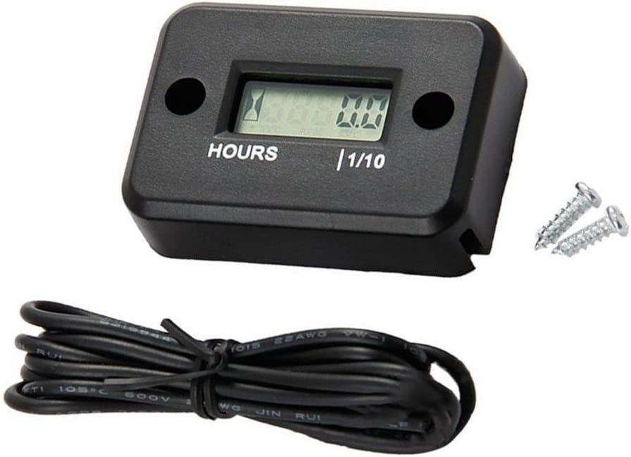 JZK Impermeable cronometro contador digital temporizador para motocicleta bicicleta barco motonieve cortacésped tractor camión