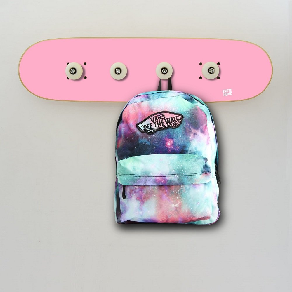 Skateboard wall hanger for your skater daughter, attractive decoration piece for girls - Skateboard Coat Rack pink