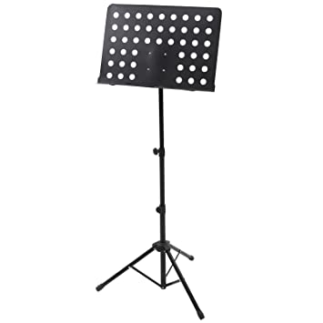 Jago Music Note Stand (Black) Script Sheet Tripod Holder Height