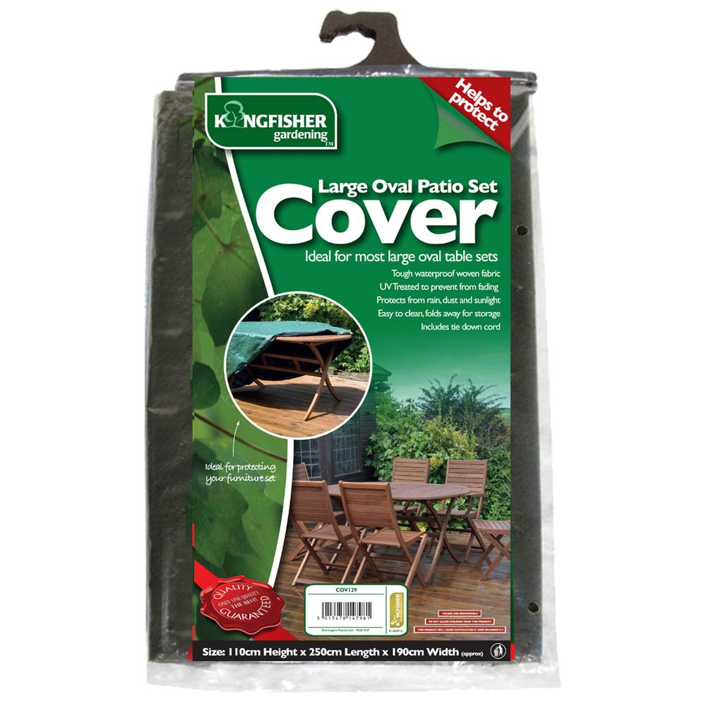 Kingfisher Large Oval Patio Set Cover King Fisher COV129