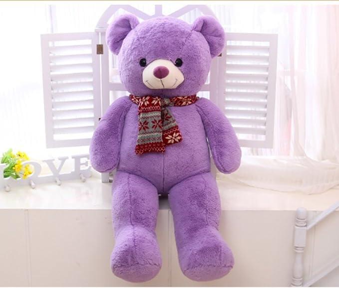 verc Art Regalo oso de peluche gigante Gentleman oso de peluche muñeca Lila 80 cm de 160 cm Color1 Talla:80 cm: Amazon.es: Bebé