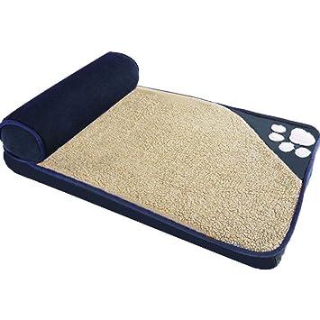 LJ-PET Paño de Oxford Mascota Cama de Perro, Ayuda ortopédica Antideslizante Refuerzo para Cama, Portátil Acolchado Cama alfombras-Azul M: Amazon.es: ...