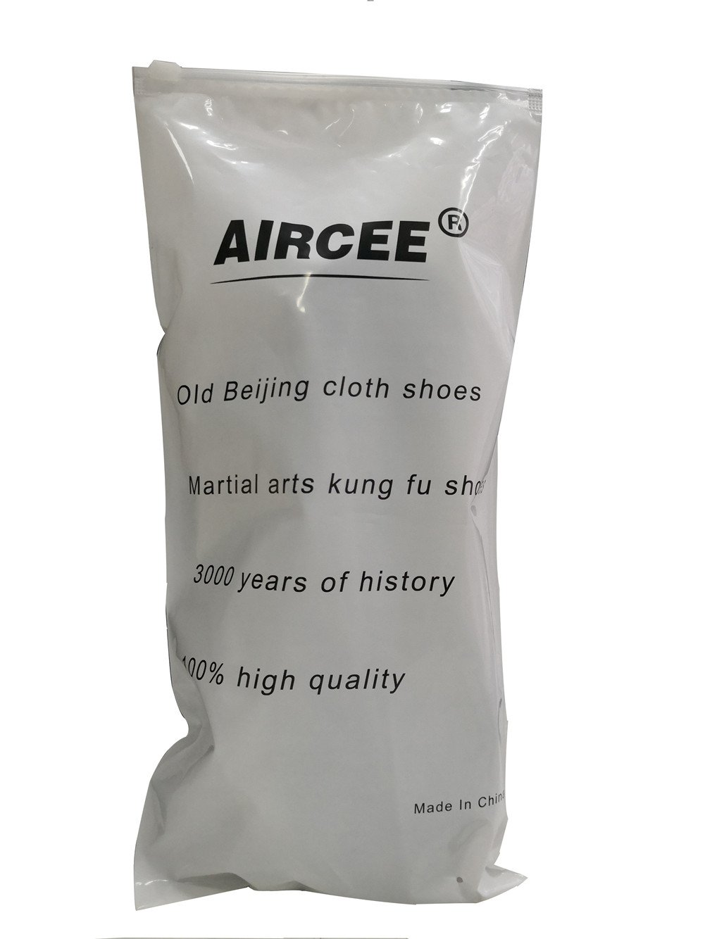 Aircee Men Chinese Traditional Old Beijing Shoes Kung Fu Tai Chi Rubber Sole Shoes Black (CHN 45 275mm (US Men 9.5/Women 10), 1-Black)