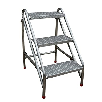 folding stool portable ladder Step stool color : White step stool small wooden ladder 2 floor step folding stool JiuErDP Folding ladder