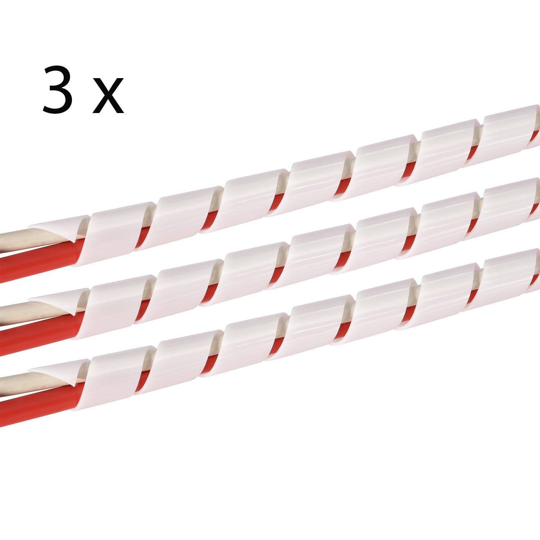 Silber 10 M TPFNet Spiral-Kabelschlauch 4-50 MM Durchmesser