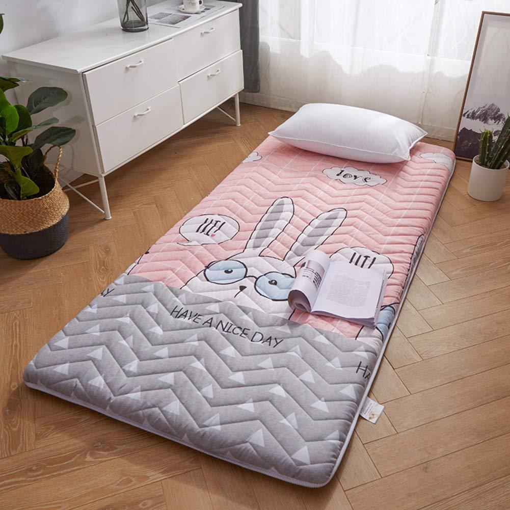 JSfuton Sleeping Tatami Floor Mat, Soft Breathable Mattress Pad Japanese Futon Premium Thick Mattress Topper,Collapsible Mattress Bed Roll for Home Dorm-d Queen by JSfuton
