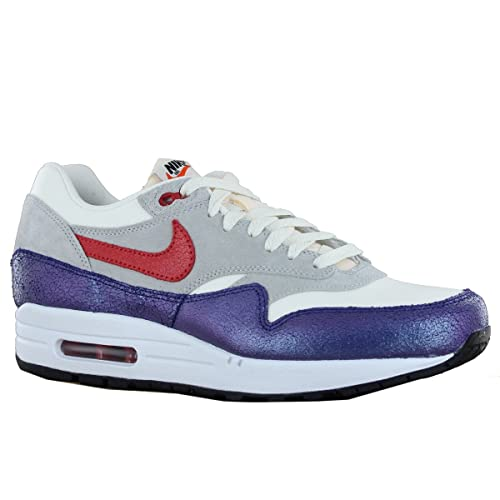 check out 91ea8 a28b1 Nike Air Max 1 Vintage Suede Leather Grey White Mens Trainers Size 42 EU   Amazon.es  Zapatos y complementos