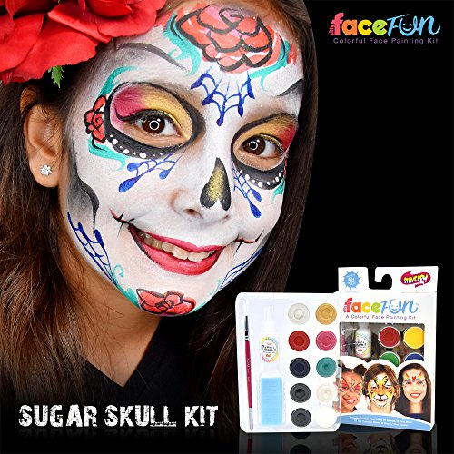 Silly Farm Facefun Face Paint Skulls and Roses
