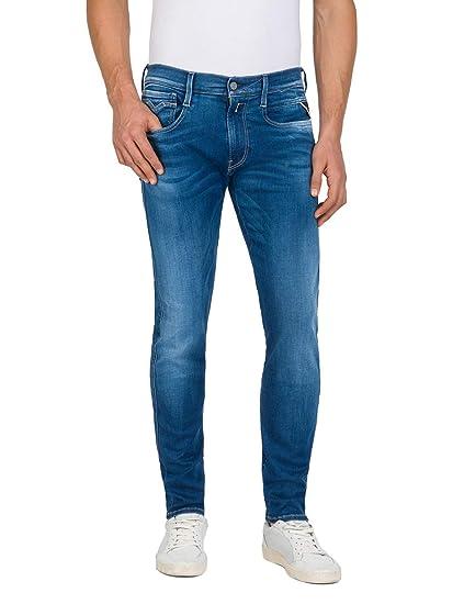 65f7e2fc Replay Men's Hyperflex Slim fit Anbass Jeans Blue Denim: Amazon.co ...