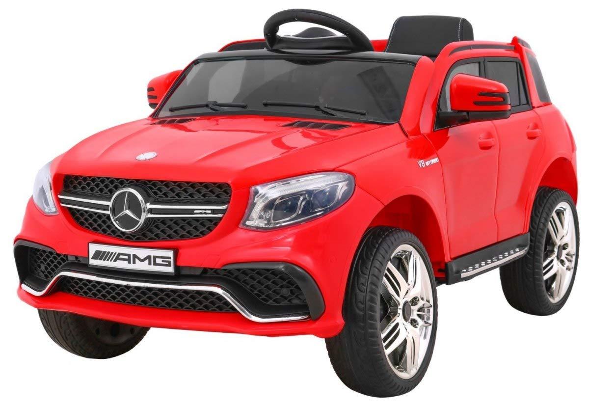BSD Veicolo Elettrico per Bambini Auto Elettrica con Telecomando - Mercedes AMG GLE 63 AMG - Rosso