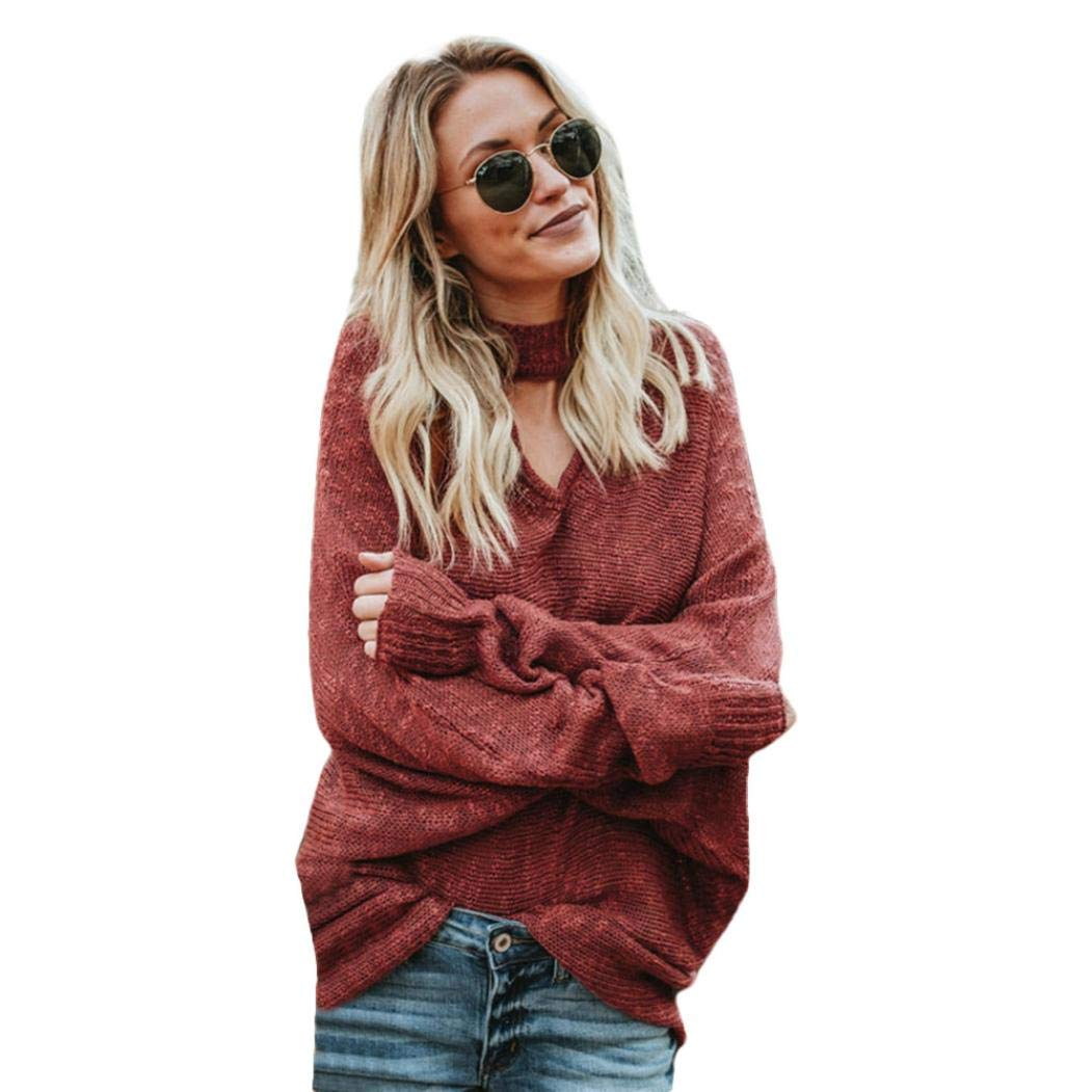 Amazon.com : Clearance!Youngh 2018 New Womens Solid Loose Long Sleeve Winter Casual sweatershirt Blouse T Shirt Tops : Grocery & Gourmet Food