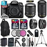 Holiday Saving Bundle for D7200 DSLR Camera + AF-P 70-300mm VR Lens + 18-105mm VR Lens + Backup Battery + Backpack + 1yr Extended Warranty + 2 Of Ultra Fast 16GB Class 10 - International Version