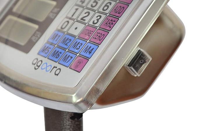 Bascula Industrial De Plataforma 40x50Cm Balanza Digital Reforzada 300Kg Plegable …