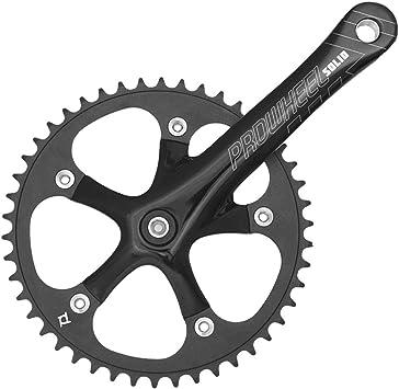 Cadenas ruedas y bielas fijo City 170 mm 46 dentición bicicleta: Amazon.es: Coche y moto