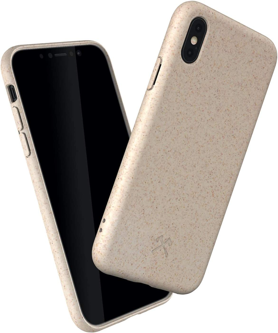Woodcessories - Phone Case Compatible with iPhone X Case White, iPhone Xs Case White - Ecofriendly, Made of Plants