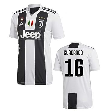 best service 71e2f b49d7 Amazon.com: Juventus Cuadrado Home Jersey 2018/19 Original ...