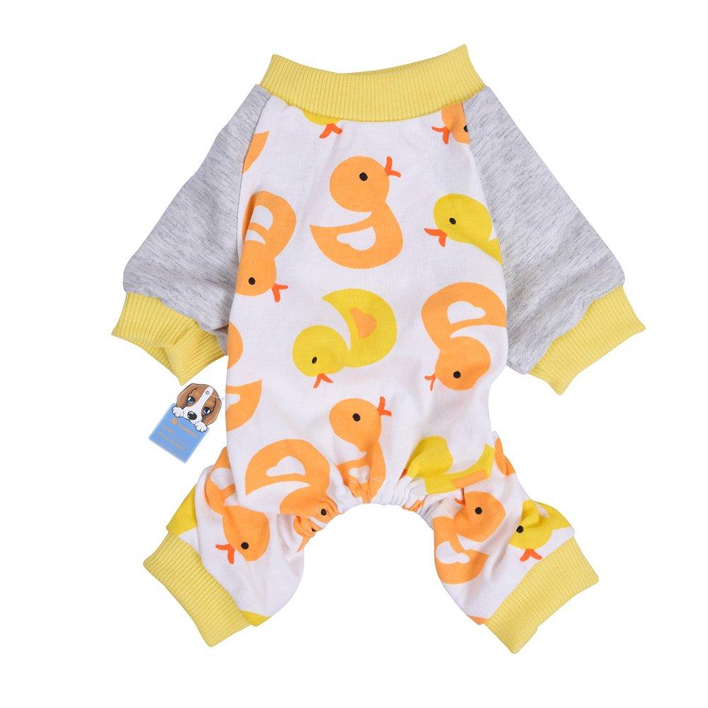 Awhao Pyjama Mignon en Coton pour Petit Chien schéma de canard motif S