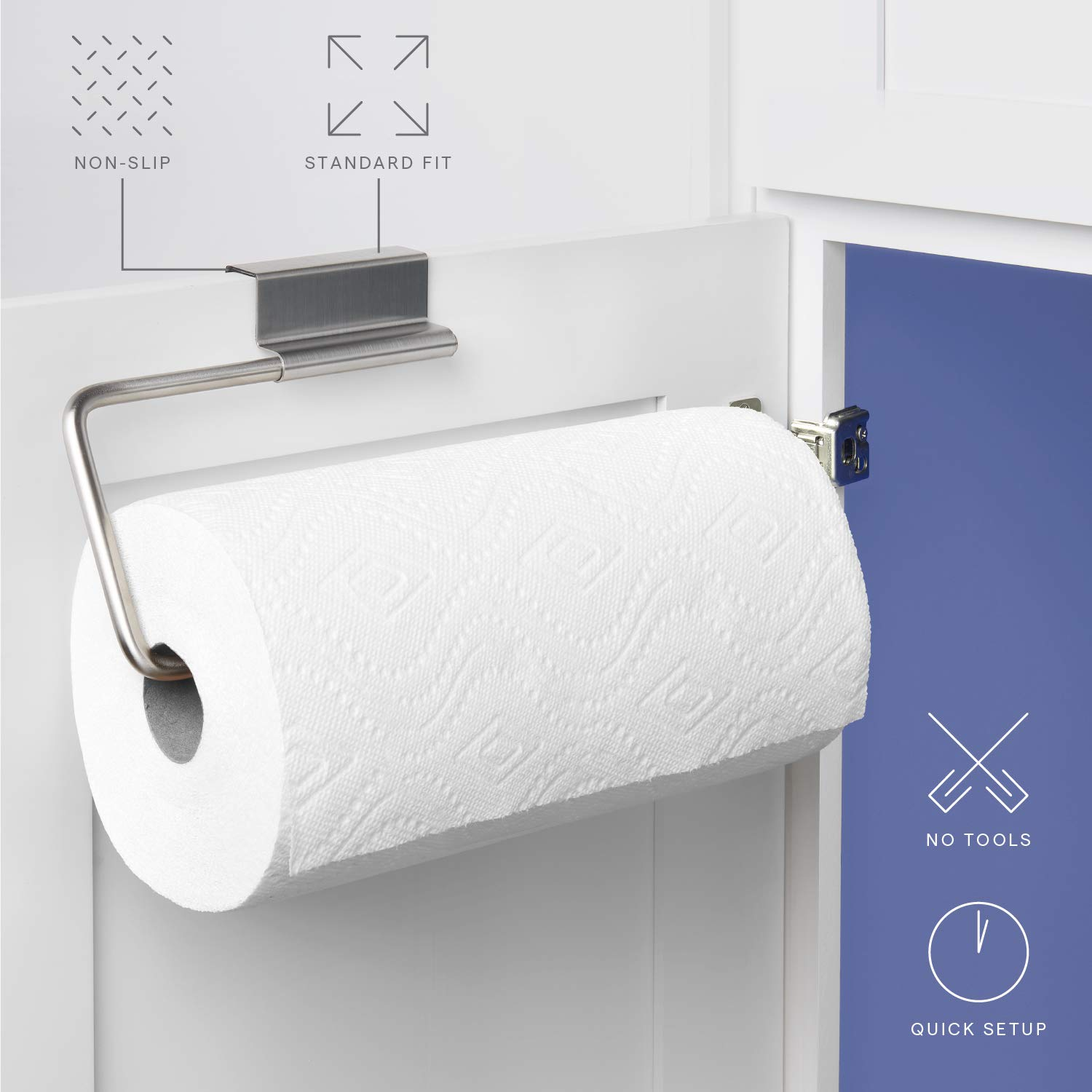 Merveilleux Amazon.com: YouCopia Over The Cabinet Door Stainless Steel Paper Towel Roll  Holder: Home U0026 Kitchen