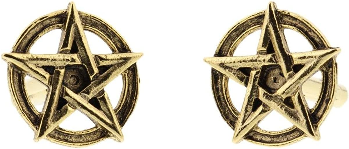 pentagram 24k gold cufflinks by classic cufflinks