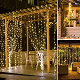 SUNNEST Window Curtain String Light 300 LED 8