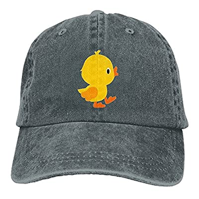 Vintage Adult Sport Baseball Cap Cute Cartoon Yellow Chicken Adjustable Denim Cowboy Hat For Men Women