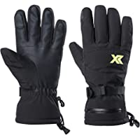 XR Waterproof Warm Ski Gloves 3M Thinsulate Windproof Breathable Snowboarding Gloves for Outdoor Cold Weather Fits Men…