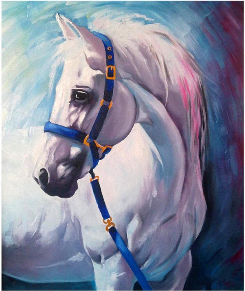 ONEZERT DIY Pintura por números Pintura Caballo Imagen para decoración del hogar para Sala de Estar envío Directo 40x50 cm sin Marco