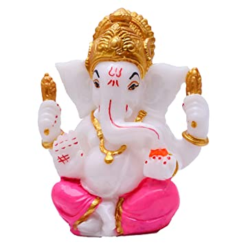 Buy Golden Plated White Ganesha Ganesha Online God Ganesh Idol