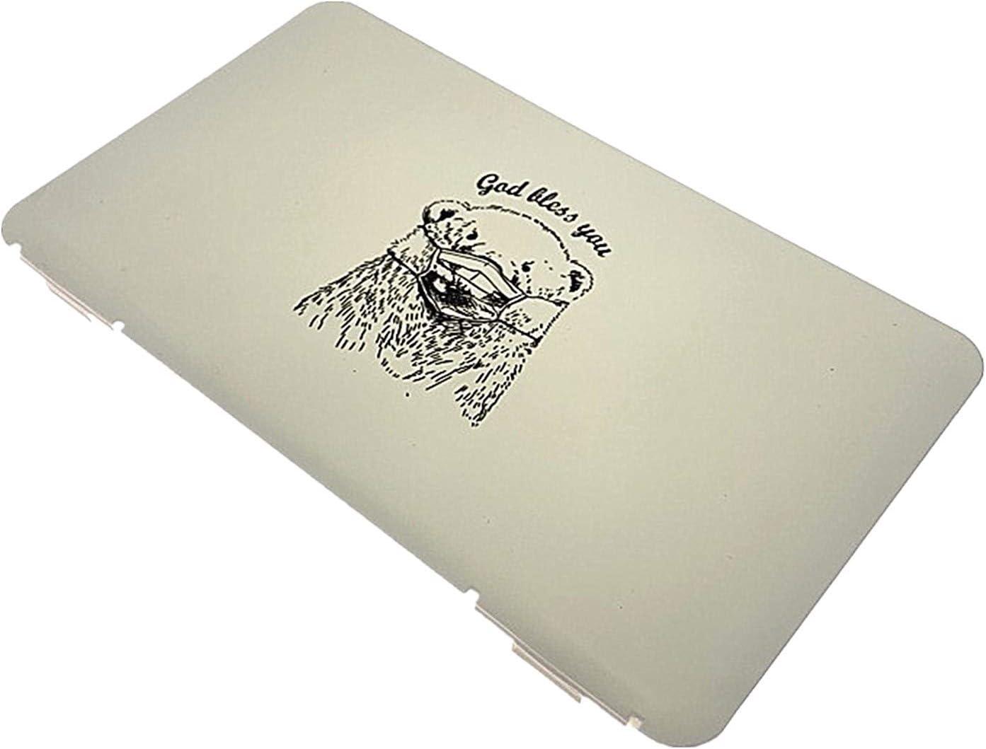 Caja de mascarillas desechables para la cara, bolsa de almacenamiento plegable, organizador de máscaras desechables, caja de almacenamiento para la prevención de la contaminación de máscaras Blanco