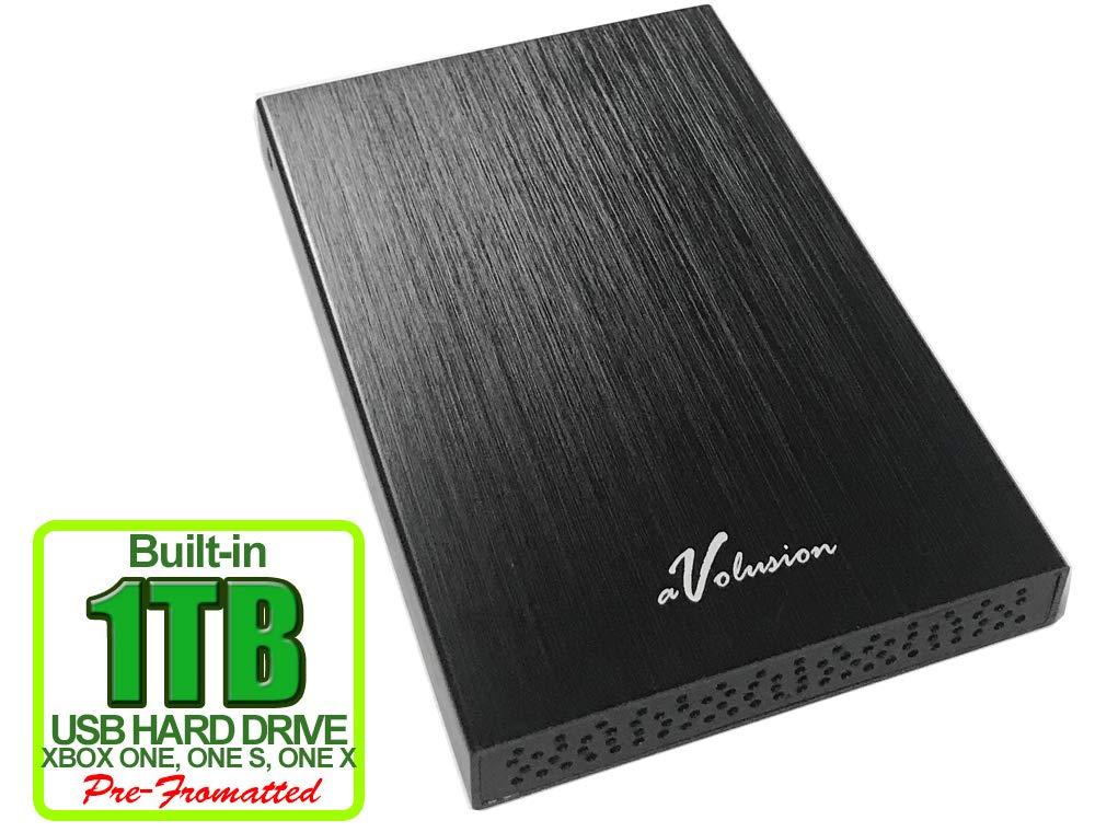 Avolusion HD250U3 1TB USB 3.0 Portable External Gaming Xbox One Hard Drive (Xbox Pre-Formatted) - Black w/2 Year Warranty