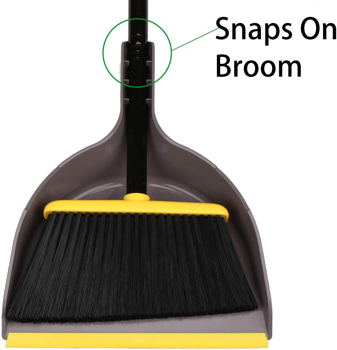 Angle Broom with Dustpan,Dust pan Snaps On Broom Handles,Broom with Attachable Dustpan: Kitchen & Dining