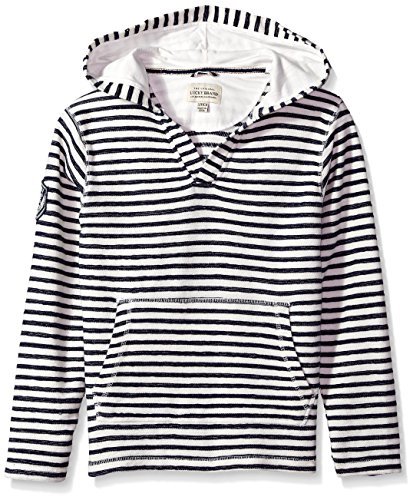 Lucky Brand Boys' Little Long Sleeve Hoody, Cannoli Cream Stripe, 5 by Lucky Brand
