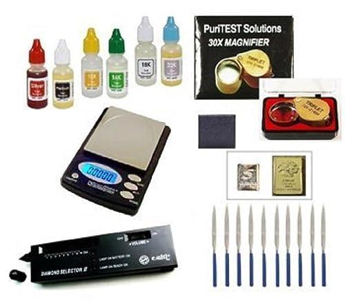 Oro y Plata Kit de prueba Culti - Selector II Electronic Diamond Gem Detector de prueba DigiWeigh Jewelry Escala: Amazon.es: Joyería