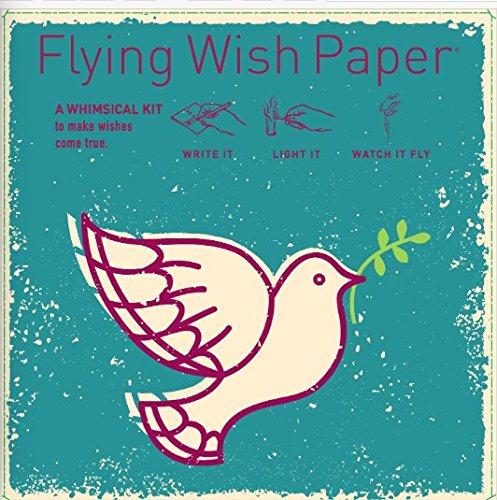 Flying Wish Paper - Write it., Light it, & Watch it Fly - PEACED DOVE - 5