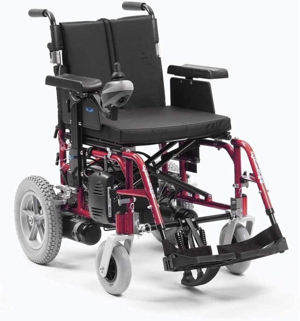 CHAIR Silla de ruedas, silla de rehabilitación médica para personas mayores, personas mayores, médico Pca16Red 16Inch Enigma Energi Powerchair Red,rojo