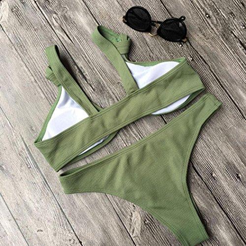 Winwintom Mujer Bikini Las Mujeres Del Traje De BañO Push-Up Sujetador Bikiní De La Playa Del Traje De BañO