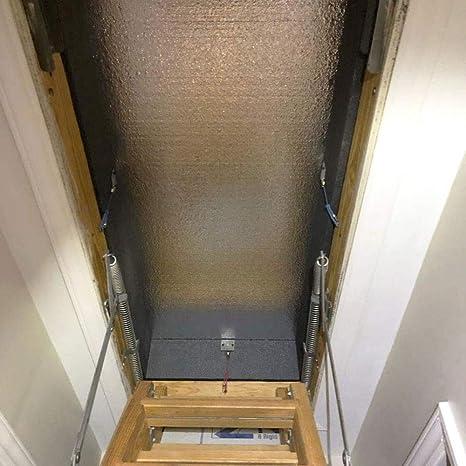 Nexmon - Cubierta de la Escalera de la Puerta del Techo. Tienda para Techo abatible con Escalera para escaleras R-15.3 con Cremallera de fácil Acceso 25 x 54 x 11: Amazon.es: Productos para mascotas