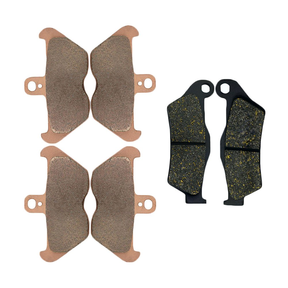 AHL Front & Rear Brake Pads Disc Set for BMW R1100RT R1100 RT 1994-2001 (Sintered copper & Semi-metal)