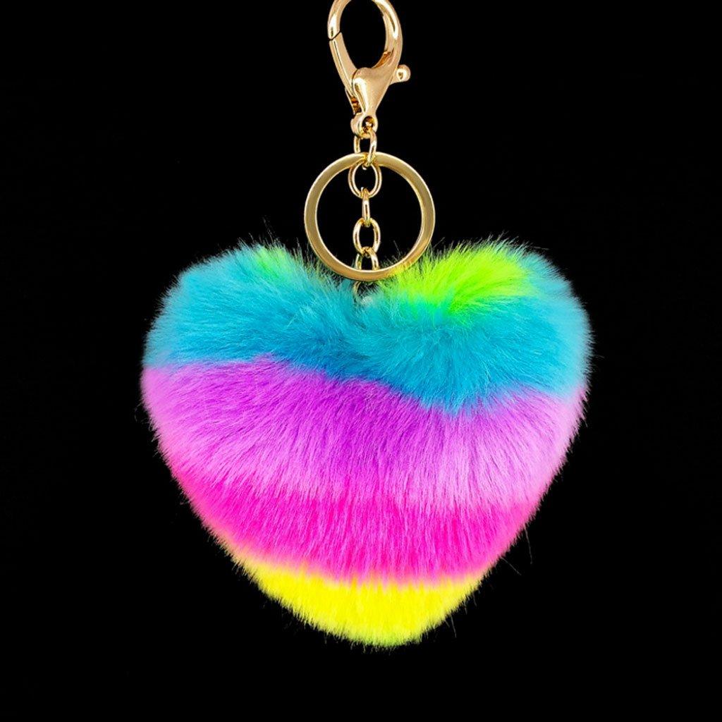 Kalttoy - Llavero con forma de corazón arcoíris para ...