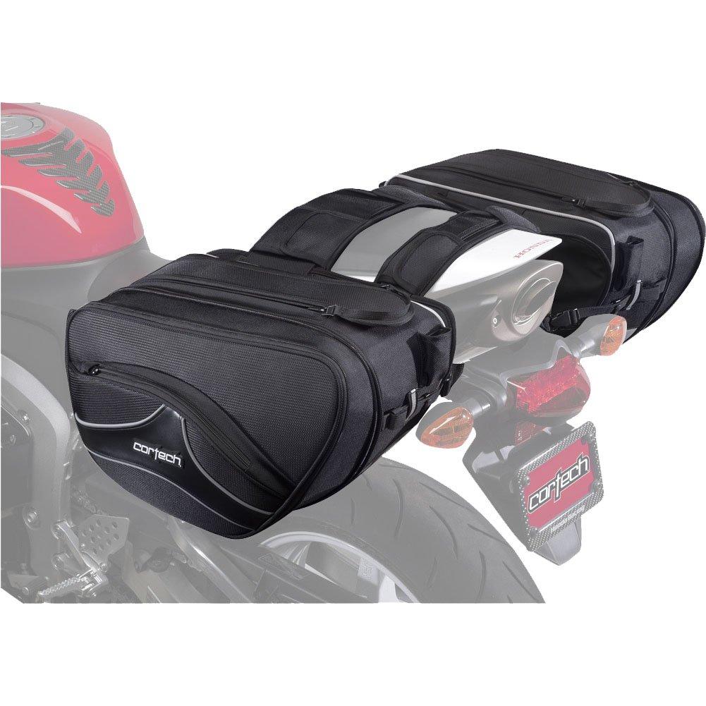 Black Cortech Sport 2.0 36-Liter Motorcycle Saddlebag Size 16.9 L x 6.7 W x 10.2 D 5559083654