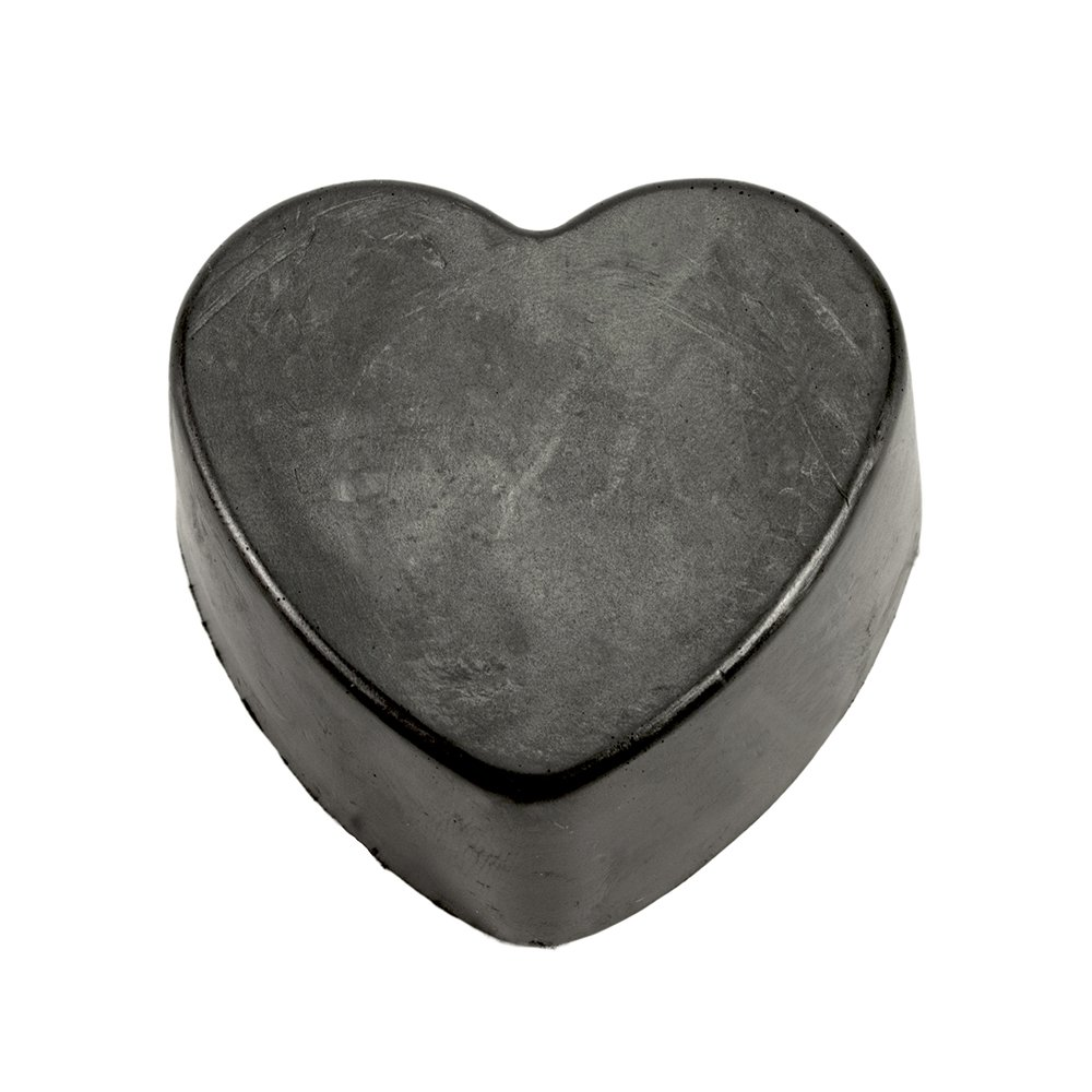 Lava Love Black Heart, Vegan Volcano Soap Made with Volcanic Ash (Bentonite, Zeolite, Pumice) From Oregon and Shea Butter, one 3.5 Ounce Bar