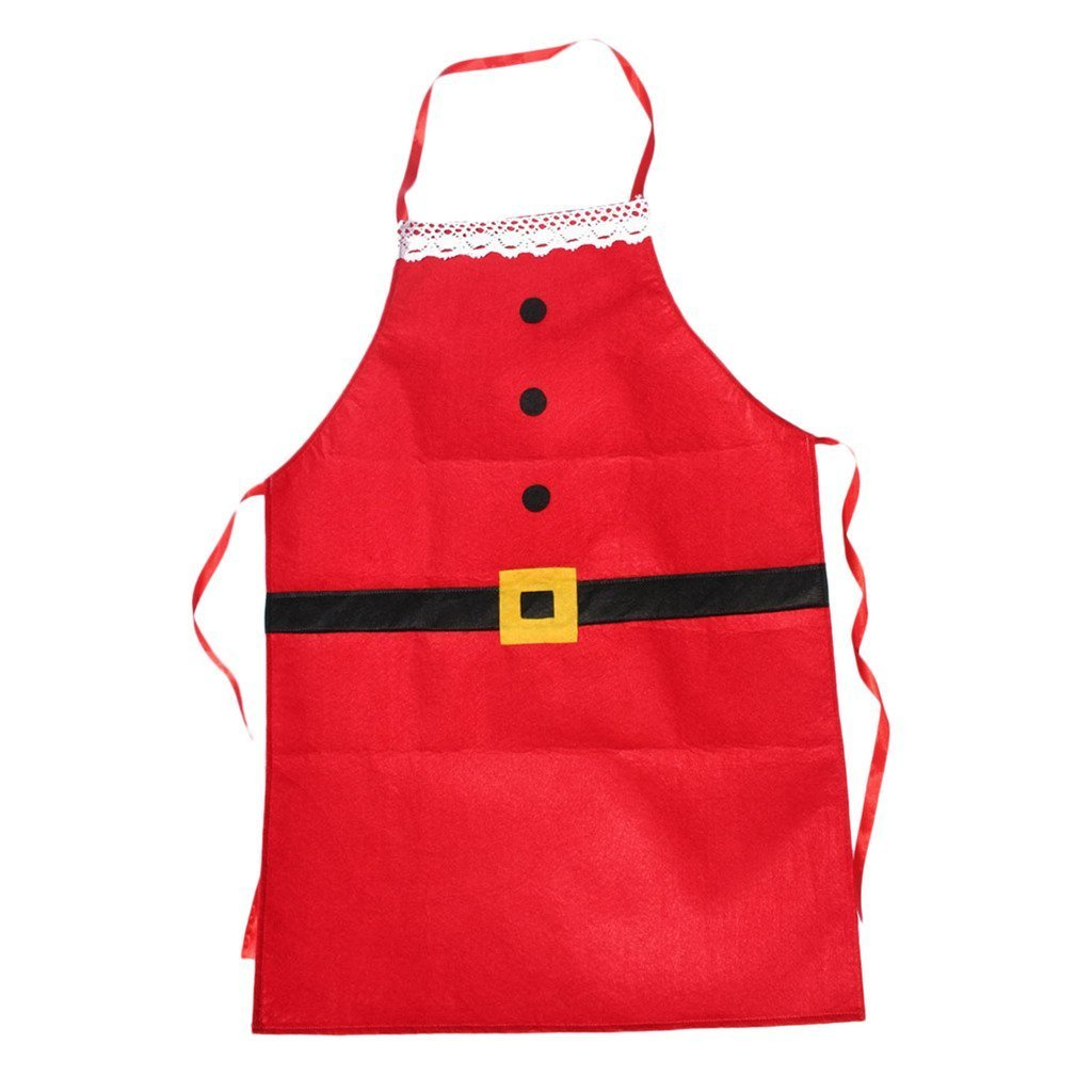 Doyeemei Christmas Apron Adult Apron Family Dinner Cooking Baking Chef Christmas Decoration Gift WIDEN ELECTRIC