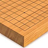 Go Japanese Game Board (Goban), Shin Kaya Wood, Reversible Playing Fields, 1.6 Inch Thick