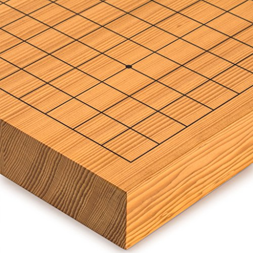 Yellow Mountain Imports Go Japanese Game Board (Goban), Shin Kaya Wood, Reversible Playing Fields, 1.6-Inch Thick ()