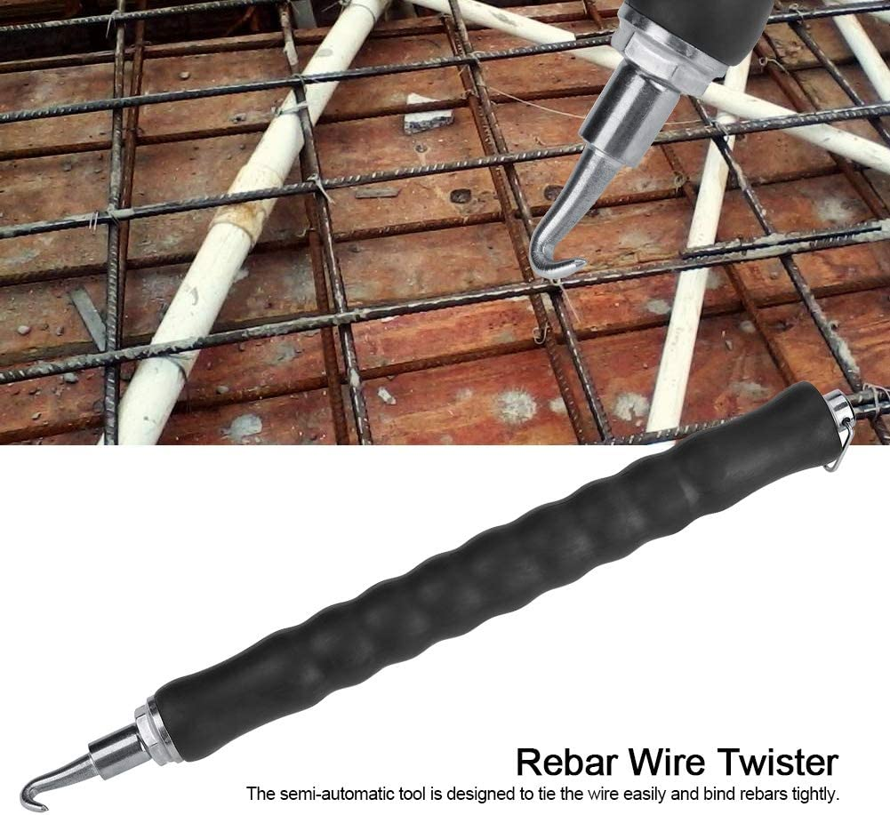 Rodipu Wire Twister Gancho de Varilla Flexible Retr/áctil para hormig/ón Herramienta de Atado de Varilla para Herramienta Manual de Varilla Pull Tie Twister