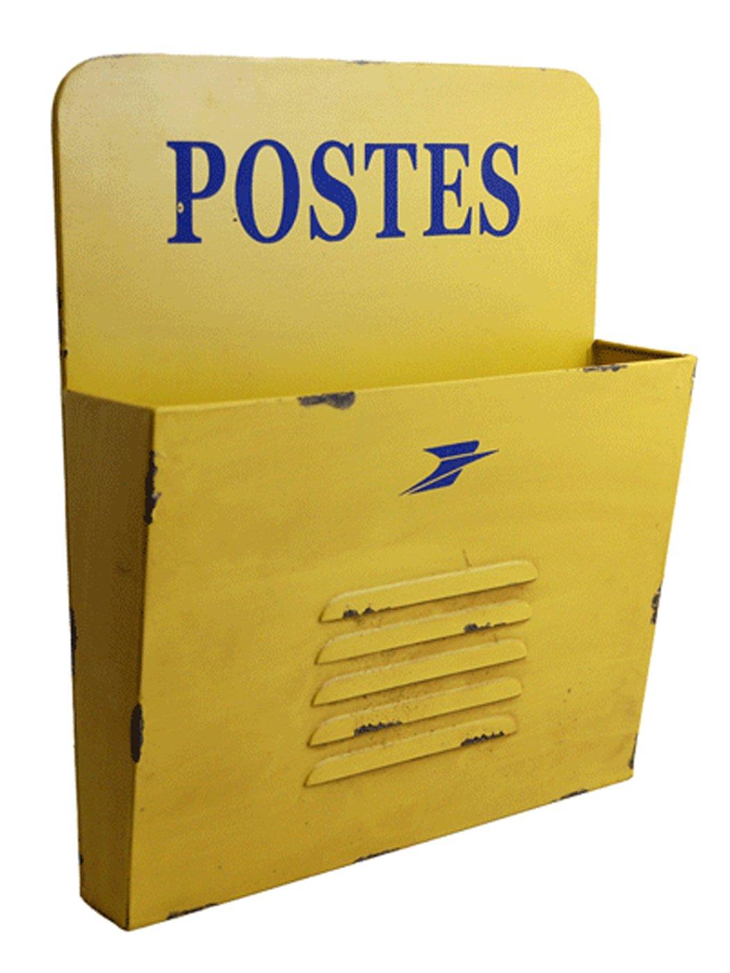 Range Courrier Postes Jaune Amazonfr Bricolage - Porte courrier mural